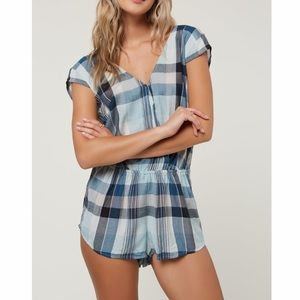 NWT O'Neill Checked Gingham Beachy Karina Romper S